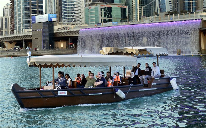 Abra Ride in the Dubai Water Canal