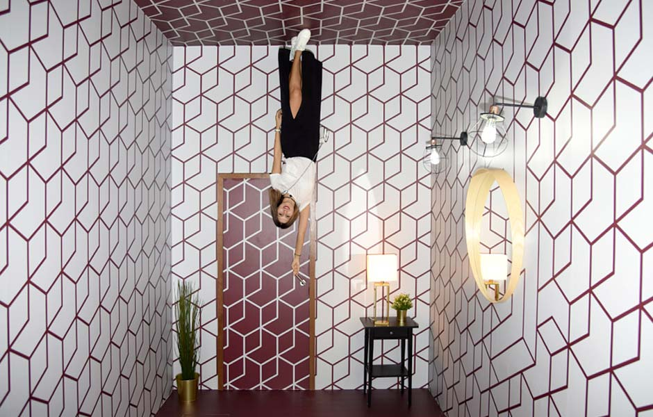 Walk on walls in the Rotated Room