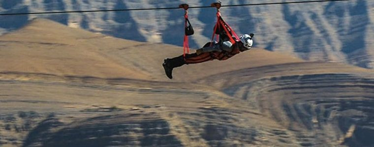 Jebel Jais Zipline mountain